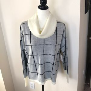 NWT Anthro Boxy Cowl-neck Sweater